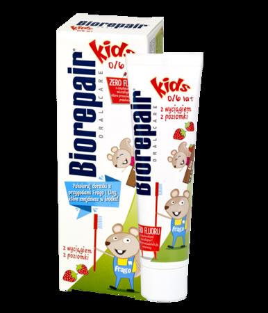 BIOREPAIR KIDS - pasta do mycia zębów małych dzieci, bez fluoru, 50 ml