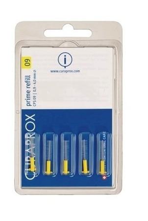 CURAPROX CPS 09 Prime uzupełnienia - szczoteczki do przestrzeni międzyzębowych z uchwytem,żółte