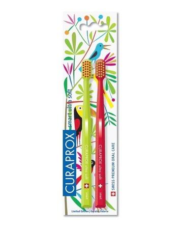 CURAPROX CS Smart 7600 DUO Jungle - szczoteczka dla dzieci powyżej 5 roku życia, 2 szt