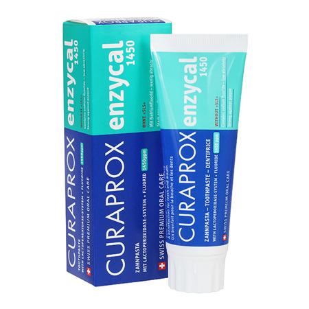 CURAPROX Enzycal 1450 - pasta do mycia zębów z enzymami nowej generacji, bez substancji szkodliwych, 75 ml