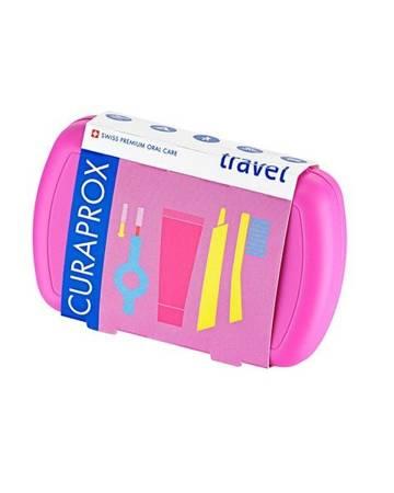 Curaprox TRAVEL SET NEW PINK  zestaw turystyczny