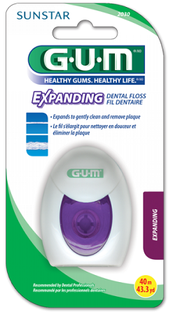 GUM Expanding Floss - nić dentystyczna pęczniejąca, 30 m