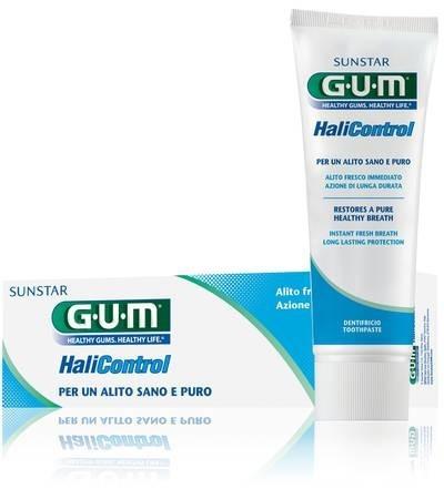 GUM Halicontrol - pasta do mycia zębów przeciw nieświeżemu oddechowi z ust, 75 ml