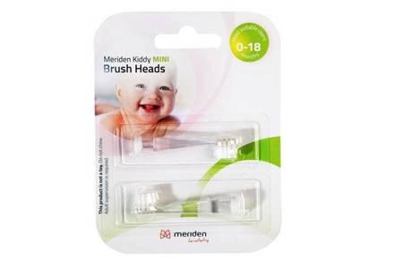 MERIDEN KIDDY Brush HEAD MINI  końcówki do dziecięcej szczoteczki sonicznej, 2 szt