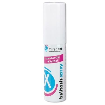 MIRADENT Halitosis Spray - odświeżający preparat z ksylitolem w sprayu na nieświeży oddech, 15 ml