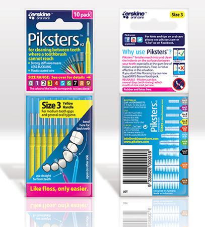 PIKSTERS Regular 3 - szczoteczki międzyzębowe 0.5, żółte 10 szt