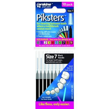 PIKSTERS Regular 7 - szczoteczki międzyzębowe 0,7, czarne 10 szt
