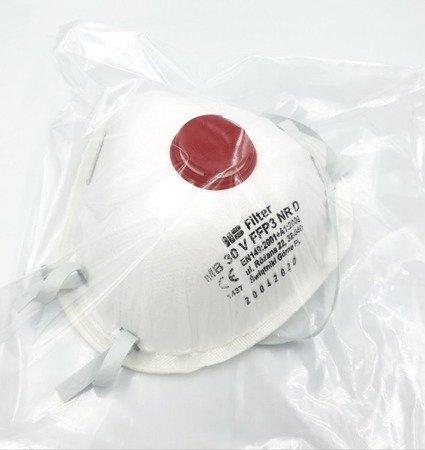 Półmaska FFP3NR D z zaworem oddechowym na gumkę
