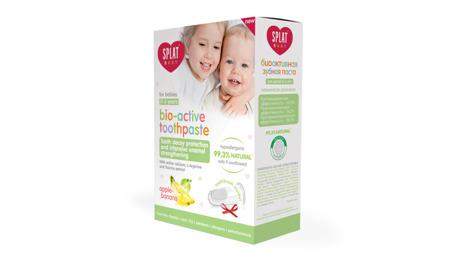 SPLAT Baby 0-3 lat z nakładką na palec - pasta przeciw próchnicy intensywnie wzmacniająca szkliwo, smak jabłko-banan
