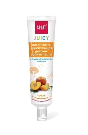 SPLAT Juicy - intensywnie wzmacniająca pasta do zębów z  nanohydroksyapatytem wapnia- 35 ml - brzoskwinia