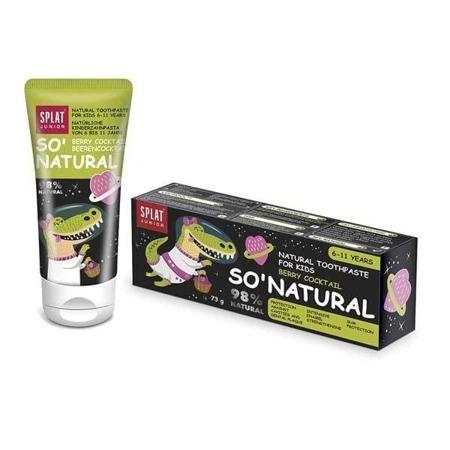 SPLAT KIDS Natural Toothpaste For Kids Berry Coctail- pasta do mycia zębów z hydroksyapatytem 6-11 lat, 55ml, smak owoców leśnych