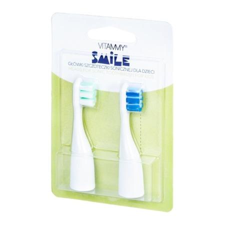 Vitammy SMILE końcówki do szczoteczki sonicznej dla dzieci, niebiesko-zielone